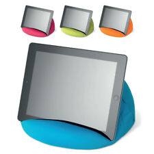 Blue Tablet Book Rest Cushion Bean Bag Pillow Stand iPad Kindle Seat Sofa Holder