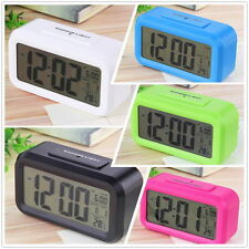 Hot LED Digital Electronic Alarm Clock Backlight Time With Calendar+Thermometer
