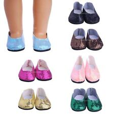 Cute Outfit Sequins Shoes for 18inch American Girl Our Generation My Life Dolls