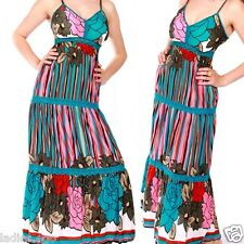 hippie vestito maxi da Spiaggia push-up Multicolore blu 36 38 40 42 S M L XL