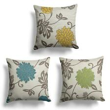 "Orla Luxury Floral Cushion Covers Reversible Flower Design Cover 18"" x 18"""