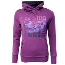 PUMA Sports Casual Fleece Womens Pull Over Graphic Hoodie Purple 825841 06 CC34