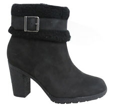 Timberland Earthkeepers Glancy Ankle Womens Heeled Zip Up Black Boots A16CB D120