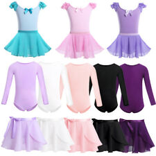 Ballet Dance Dress Kids Baby Girls Gymnastics Leotards with Wrap Skirt Dancewear