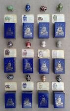 FABERGE BOXED COLLECTOR'S EGGS WITH DISPLAY BASES BY ATLAS - SELECTION.