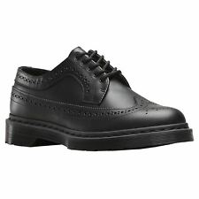 Dr.Martens 3989 5-Eyelet Black Womens Leather Brogues Lace-up Low-Profile Shoes