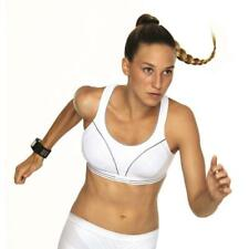 SHOCK ABSORBER Ultimate Run White Silver Sports Bra New