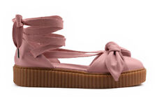 Puma Rihanna X Fenty Bow Creeper Pink Leather Sandals 365794 01 U130