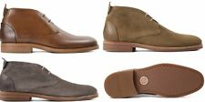 H By Hudson Matteo Suede Leather Derby Chukka Lace Up  Ankle Shoes Boots 6 to 12