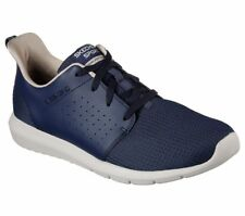 SKECHERS 52390 Foreflex Mens Air Cooled Memory Foam Trainers Navy