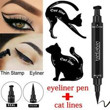 2in1 Dual-ended Eyeliner Pen With Stamp Seal+Cat Eyeshadow Template Card SY 10