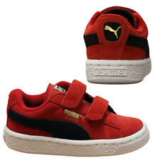 Puma Suede 2 Straps Kids Infant Toddler Red Casual Trainers Shoes 356274 18  P6A 29f2425cb