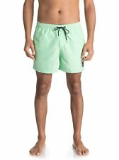 "QUIKSILVER MENS SHORTS.GREEN EVERYDAY VOLLEY 15"" LINED SWIM BOARDIES 8S 318 GDWO"