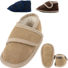 Babies - Childrens British Made Sheepskin Suede and Lambswool Booties