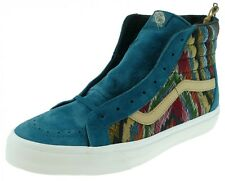 Vans SK8-HI ZIP CA California Collection italian weave pig suede atlantic deep
