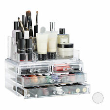Make Up Organizer 2er Set, Kosmetik Box und Lippenstift Halter, Make Up Tower