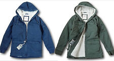 NWT Hollister - Abercrombie Men's Sherpa-Lined Cotton Twill Utility Jacket Coat