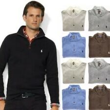 Men's Polo Ralph Lauren French-Rib Half-Zip Cotton Pullover Sweater