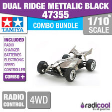 COMBO KIT! 47355 TAMIYA DUAL RIDGE BLACK METALLIC TT-02B 1/10 R/C RADIO CONTROL