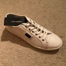 Dolce & Gabbana Luxe Classic Leather Sneakers / Trainers - White RRP: £330.00