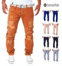 KC Jeans Uomo Fit Pantaloni Destroyed Denim vestiti da CLUB VINTAGE NUOVO