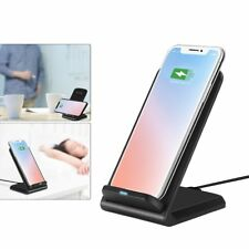 Qi Wireless Fast Charger Charging Stand Dock Pad For iPhone 8 X Samsung S8 S8+