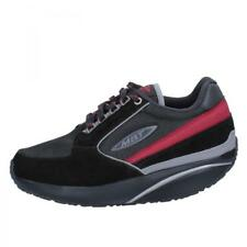 scarpe donna MBT sneakers nero camoscio tessuto dynamic BY264