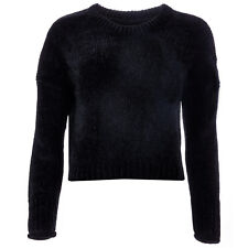 Womens Only Dicte Chenille Cropped Jumper In Black From Get The Label