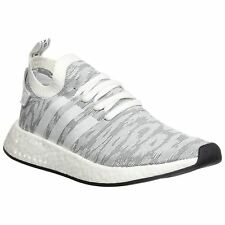 Adidas NMD R2 Primeknit Medium Grey White Men Sneakers Boost Technology Trainers