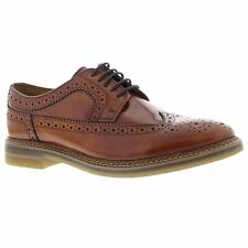 Base London Turner Tan Mens Leather Low-profile Lace-up Brogue Shoes