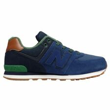 New Balance 574 Collegiate Navy Youths Trainers