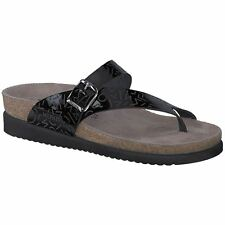 d25ce3733e1e Mephisto Helen Laser Black Womens Patent Leather Slip-On Toe-post Sandals