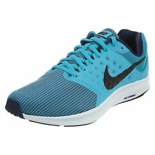 Nike Downshifter 7 Chlorine Blue Black Mens Mesh Running Trainers Sneakers