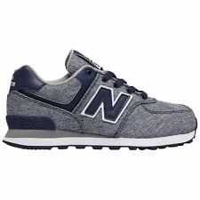 New Balance 574 Classic Blue White Youth Low-Top Lace-up Sneakers Trainers New