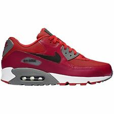 Nike Air Max 90 Essential Gym Red Black Mens Mesh Running Low-top Trainers