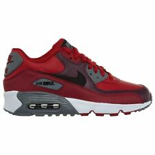 Nike Air Max 90 Gym Red Black Youth Leather Low-top Sneakers Trainers