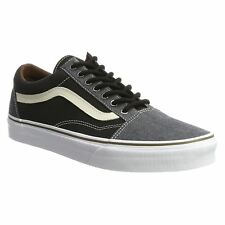 Vans Old Skool Black Womens Canvas Low-Top Casual Sneakers Trainers All Sizes