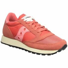 Saucony Jazz Original Vintage S60368-1 Red Womens Low-Top Sneakers Trainers