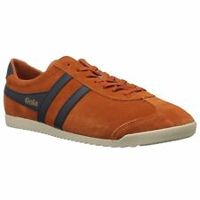 Gola Bullet Moody Orange Navy Mens Suede Low-Top Casual Laced Sneakers Trainers