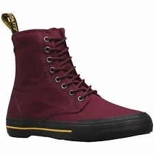 Dr.Martens Winsted 8-Eyelet Cherry Red Womens Canvas Hi-Top Sporty Ankle Boots
