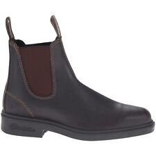 Blundstone 062 Stout Brown Mens Leather Square-toe Ankle Slip-on Chelsea Boots