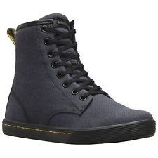Dr.Martens Sheridan 8-Eyelet Black Womens Laced Combat Style Casual Ankle Boots