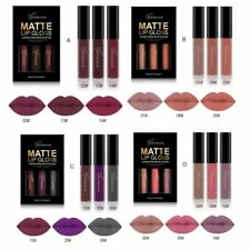 Hot 3PCS Long Lasting Waterproof Matte Liquid Lipstick Cosmetic Sexy Lip Gloss