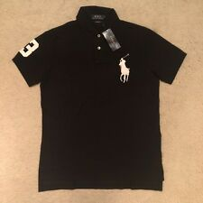 Polo Ralph Lauren Custom Fit Big Pony Polo Shirt - Black RRP: €129.00