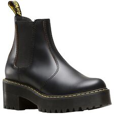 Dr.Martens Rometty Black Womens Vintage Smooth Platform Chelsea Ankle Boots