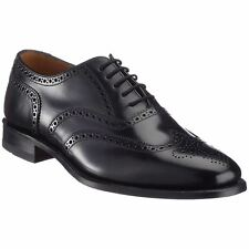 Loake 202 Black Mens Leather Lace-up Brogues Wingtip Oxford Shoes