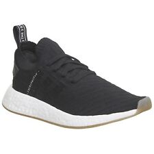 Adidas NMD R2 Primeknit Black White Mens Sneakers Boost Technology Trainers
