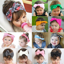 born Headband Ribbon Elastic Baby Headdress Kids Hair Band Girl Bow Knot Wniu