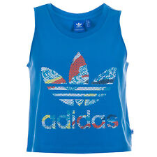 Womens adidas Originals Loose Crop Tank Top In Super Blue From Get The Label