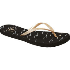 Reef Stargazer Prints Womens Footwear Sandals - Black Waves All Sizes